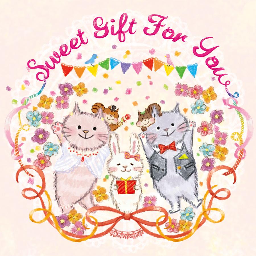 お菓子パッケージ用猫のイラスト