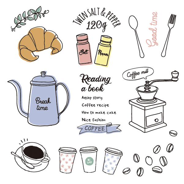 カフェのイラストの制作実績