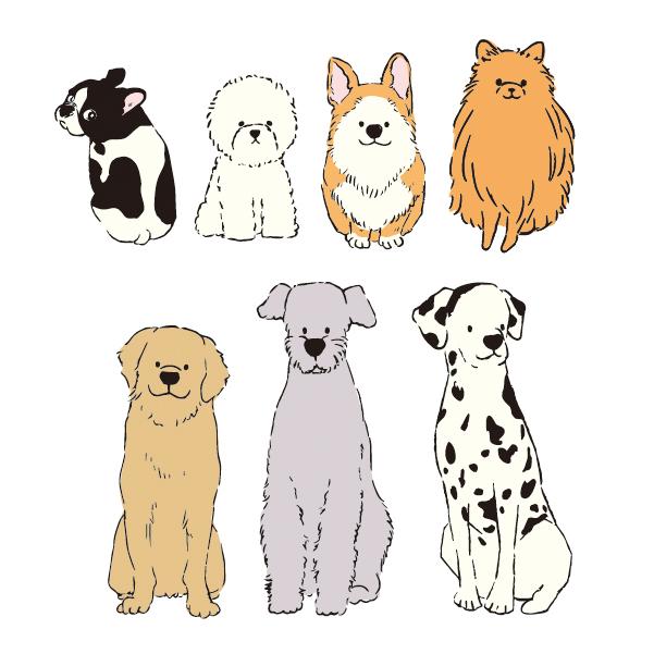 犬のイラストの制作実績