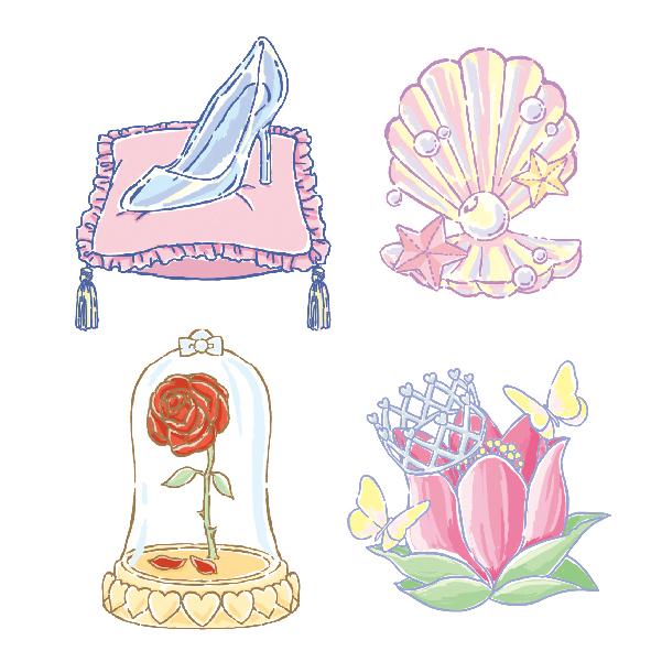 プリンセスモチーフのイラストの制作実績