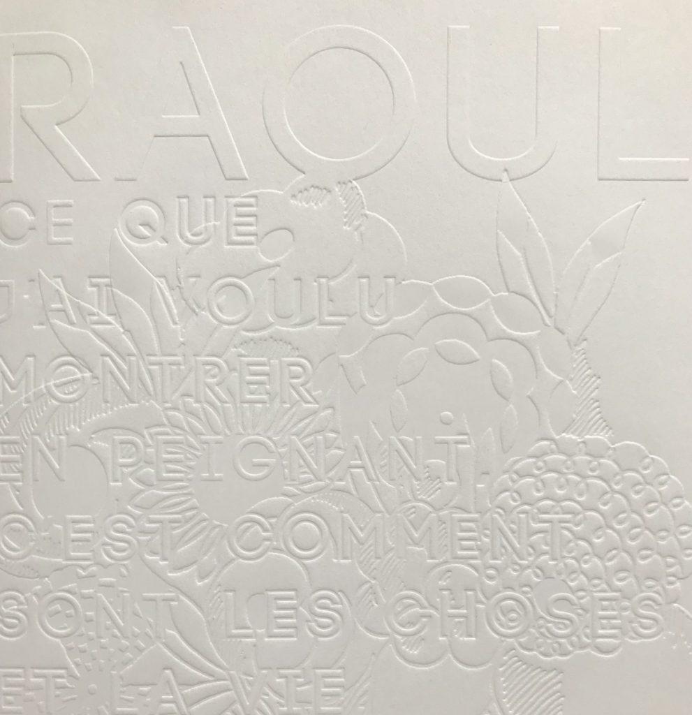 ラウル・デュフィの図録の表紙アップ